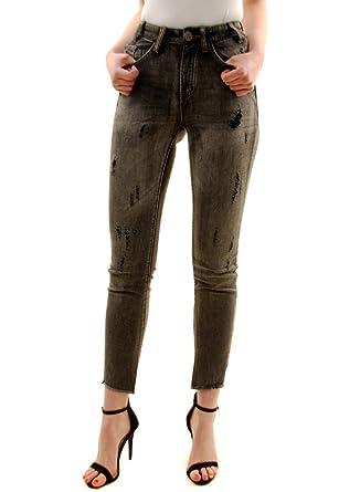014b00bd85 One Teaspoon Femmes Cœur Noir Scallywags Jeans Gris: Amazon.fr: Vêtements  et accessoires