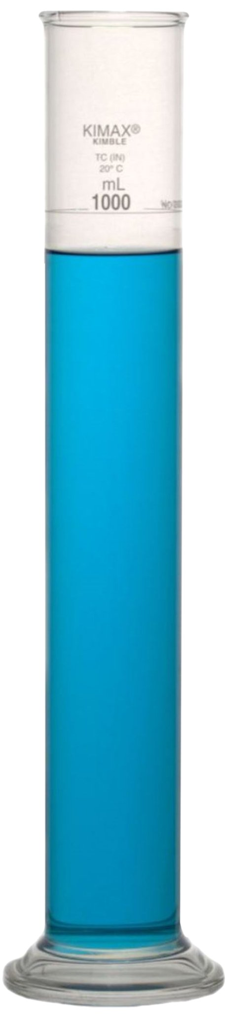 Kimble 20023-1000 Borosilicate Glass Soil Testing Cylinder, 1L Capacity by Kimble