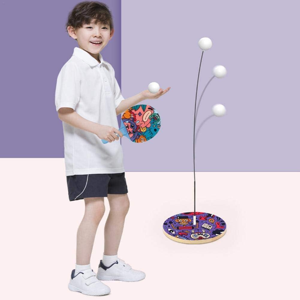 Juego de paletas de pelotas de ping pong, entrenamiento de tenis de mesa entrenador de equipo de eje suave elástico juego de pelota de práctica para niños adultos, regalo de juguete educativo