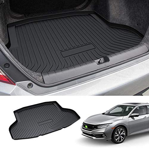 All Weather Cargo Liner Black Car SUV Sedan Auto Trunk Protection Trimmable to Fit for Honda FIT 2015 2016 2017 2018 2019