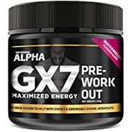 Alpha Gx7 Pre Workout Powder - Energy Drink for Workouts 245g - 30 Servings Watermelon Flavor