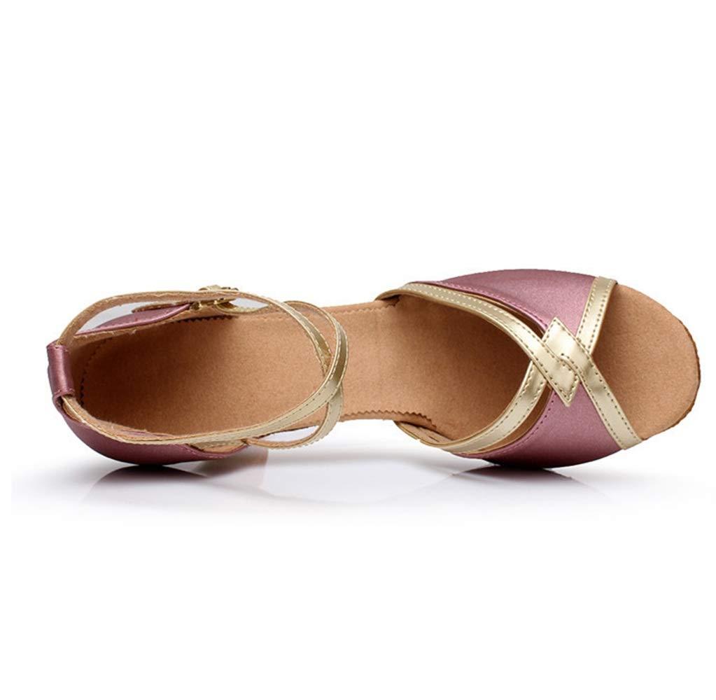 YantongGAO High Heels Latin-Dancing-Schuhe mittelhohem mit mittelhohem Latin-Dancing-Schuhe Absatz für Erwachsene Weiche Sohlen für Damen Internationale Tanzschuhe 0fced9