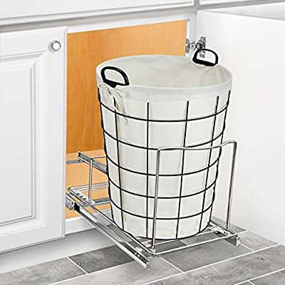 Lynk Professional Bin Holder Pull Out Under Cabinet Sliding Organizer 10 Inch Wide X 20 Inch Deep Chrome Buy Online At Best Price In Uae Amazon Ae