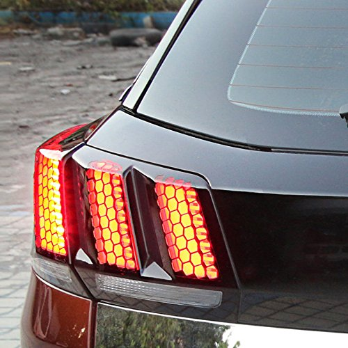 HIGH FLYING Plastic Car Rear Tail Light Stickers Emblem Decorative Cover Trim 1Set For 3008 GT 2017-2019 Car Accessory
