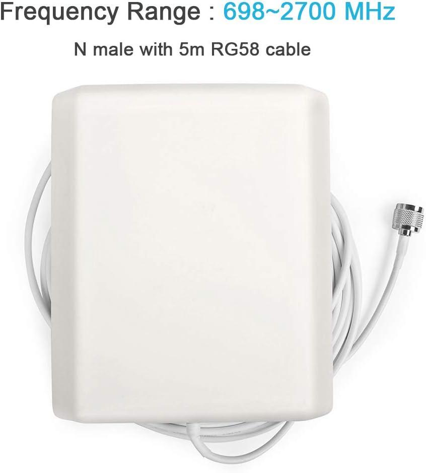 ORPEY Antena gsm 3G 4G de Alta Ganancia de Panel Pared Interior, Antena direccional Panel Pared de 824-2500MHz para Amplificador Cobertura movil ...