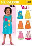 Simplicity Creative Group Inc - Patterns New Look Sewing Pattern 6504 Child Dresses, Size A (3-4-5-6-7-8)