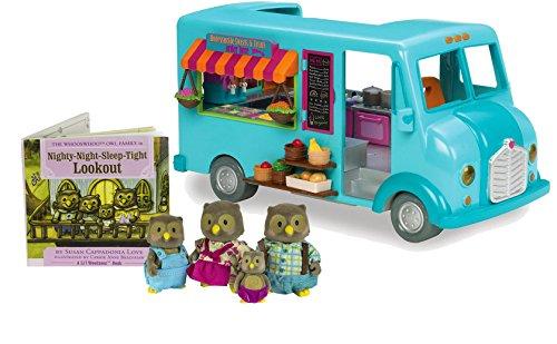 Li'l Woodzeez Honeysuckle Street Treats Food Truck and Whooswhoo Owl Family