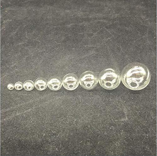 (Goonpetchkrai.rapat7498 Globe Glass Pendants 10pcs Transparence Mini Lightbulb Globe Glass Bubble Round Ball with Hole DIY Hollow Glass Orbs Vial Pendants Jewelry)