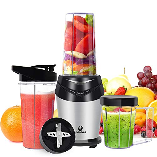 Posame Professional High Speed Blender for Smoothies and Shakes, Juices, Baby Food (silver)