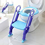 Makone Potty Trainer Seat Adjustable Baby Potty Toilet Ladder Seat with Step Stool Ladder for Todderls Baby