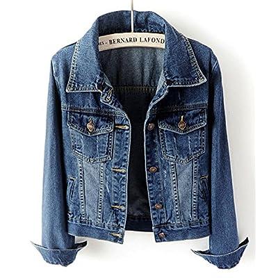 LifeShe Women's Casual Detachable Hoodie Denim Jacket at Women's Coats Shop