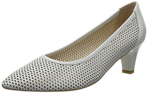 Caprice 22500, Zapatos de Tacón para Mujer Blanco (WHITE NAPPA)