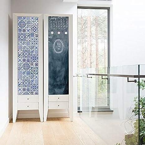 WALPLUS Kit de Creative océano Azul Azulejos y Pizarra autoadhesiva de Vinilo Adhesivo Decorativo para Pared, Vinilo, Multicolor, 64 x 5,5 x 5,5 cm: Amazon.es: Hogar