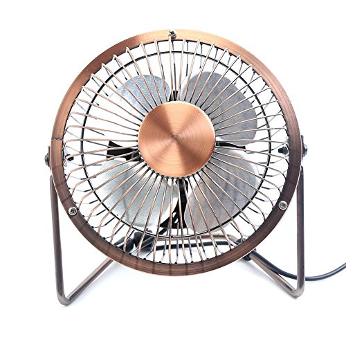 Small Electric Fans For Home : Glamouric small usb desk fan mini metal personal retro