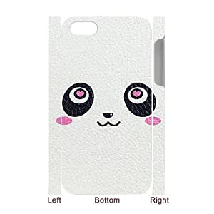 wugdiy Customized Hard Back 3D Case Cover for iPhone 4,4S with Unique Design Panda