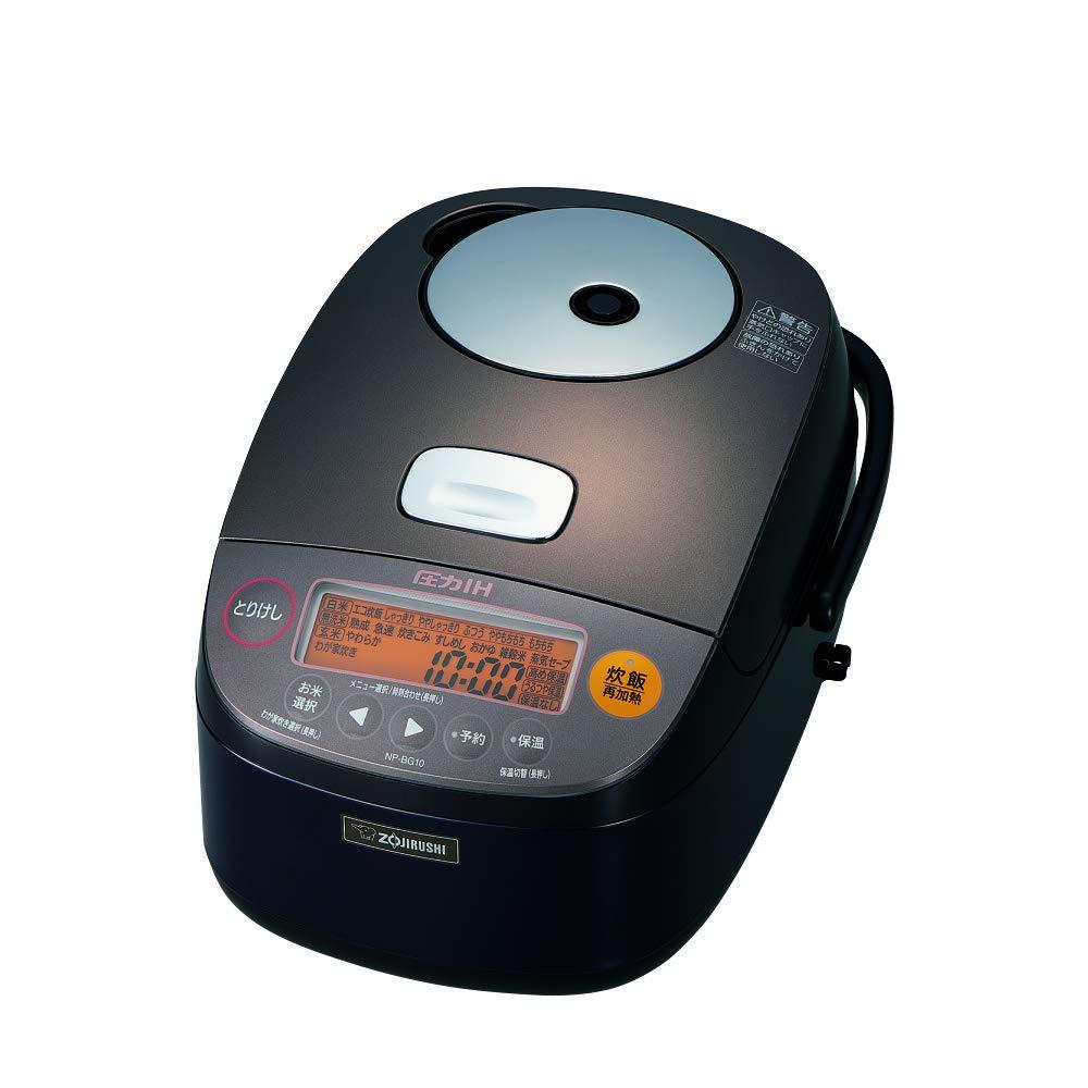 象印 炊飯器 圧力IH式 鉄器コート 5.5合炊き ダークブラウン NP-BG10-TD   B073TRFBHT