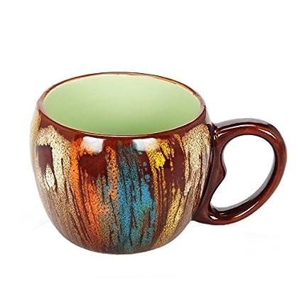 Taza de café, taza de la harina de avena, un par de vaso de