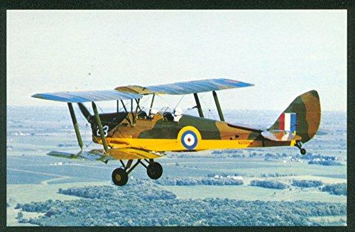 (De Havilland Tiger Moth Airplane British WWI Propeller Aircraft Postcard)