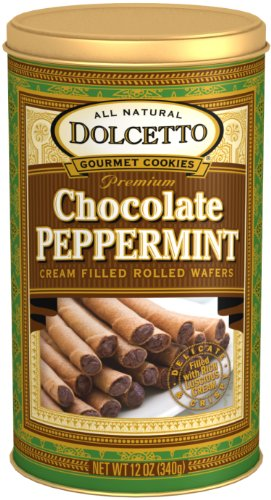 - Dolcetto Wafer Rolls, Chocolate Peppermint, 12 Ounce