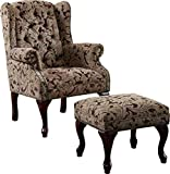 Product review for Coaster Queen Anne Style Button Tufted Wing Accent Chair with Ottoman