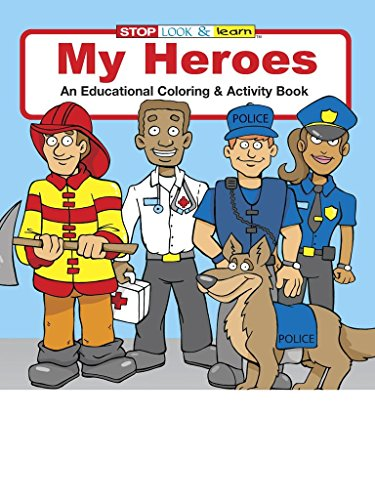 My Heroes Kid's Coloring & Activity Book in Bulk (25-pack) (Firefighter Coloring Book)