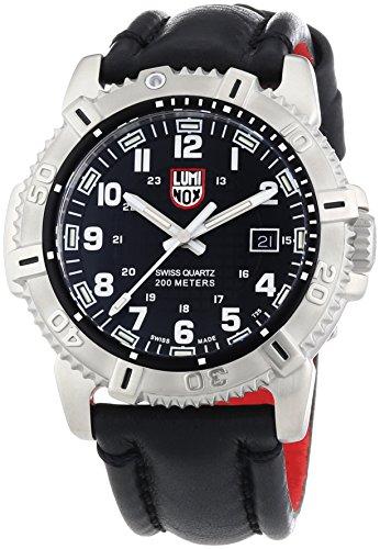 Luminox Modern Mariner Black Dial SS Leather Quartz Men's Watch 6251.BO