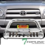 06 tundra grill guard - Topline Autopart Polished Stainless Steel Bull Bar Brush Push Front Bumper Grill Grille Guard With Skid Plate For 99 / 00-06 Toyota Tundra ; 01-07 Sequoia