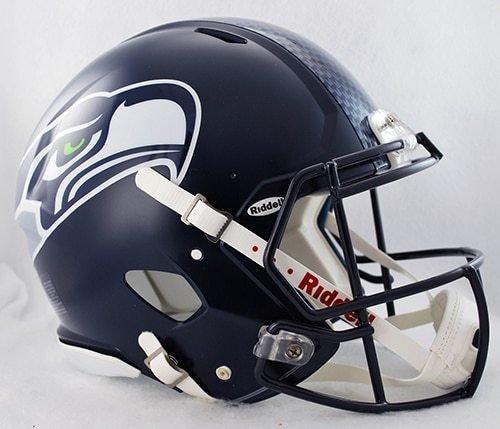 Authentic Mini Official Nfl Helmet - NFL Seattle Seahawks Speed Authentic Helmet