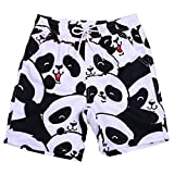 Men's Volley Board Shorts Cute Panda Print Ultra Quick Dry Mesh Lining Swim Trunks Casual Shorts Bathing Suits