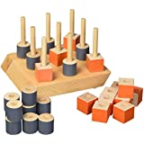 Wild Wood 3D Tic-Tac-Toe Wooden Board Game