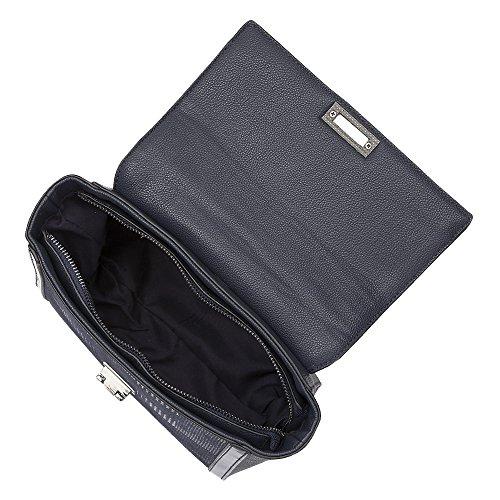 Lotus Hennie Navy Stampa Tote Bag