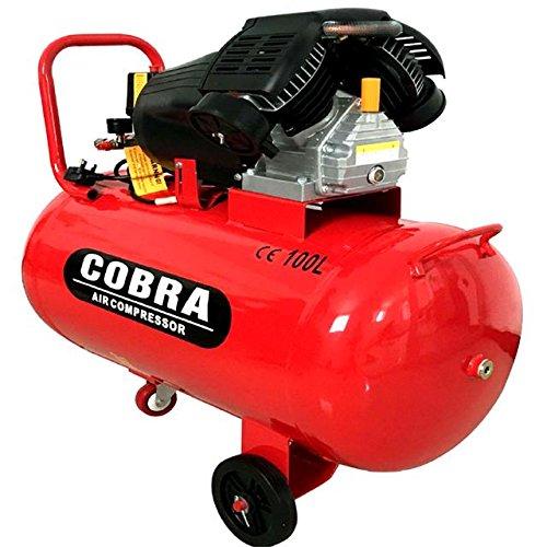 COBRA 100 LITRE V-TWIN ENGINE 240V 3HP 15 CFM AIR COMPRESSOR: Amazon.co.uk: DIY & Tools