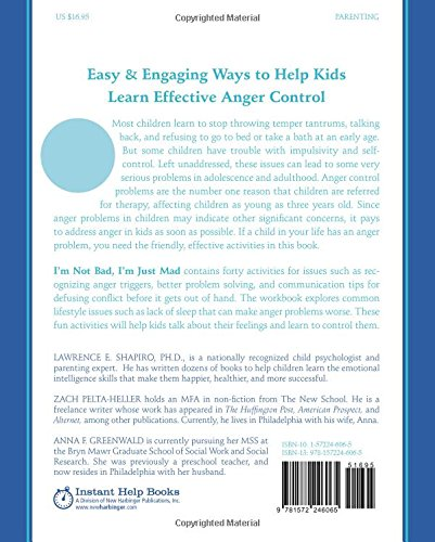 I'm Not Bad, I'm Just Mad: A Workbook to Help Kids Control Their ...