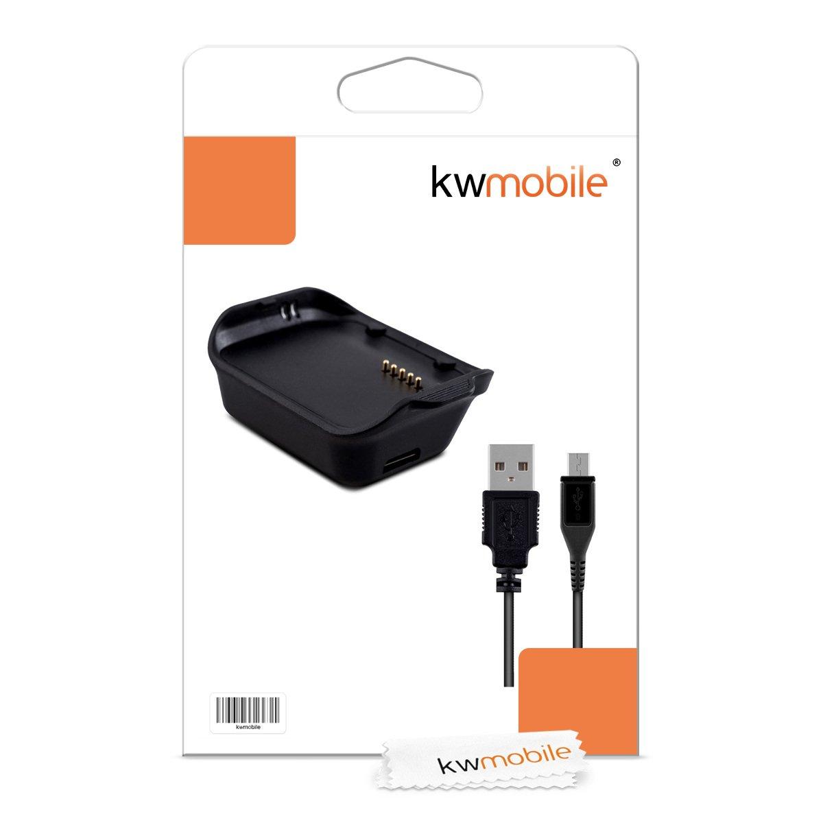 kwmobile Cable de Carga para Samsung Gear 2 R380 Conector con para Fitness Tracker y smartwatch Base de conexi/ón USB