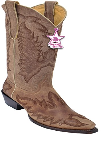 Western Leather Desert Women's With Toe Genuine Embroidery Skin Boots Oryx Snip fWWHanT8Z