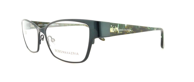 Amazon.com: BCBG Maxazria Meredith BCMRE Eyeglass Teal Frame Size 53 ...