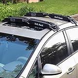 TIROL Auto Soft Roof Rack 2 Pieces/Set Black