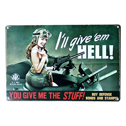 AYZ – Temática de la Segunda Guerra Mundial – Cartel de Metal clásico para Bar, decoración del hogar, Hd362p01