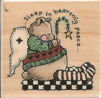 Sleep in Heavenly Peace Sandi Gore Evans Wood Mounted Rubber Stamp (E25020)