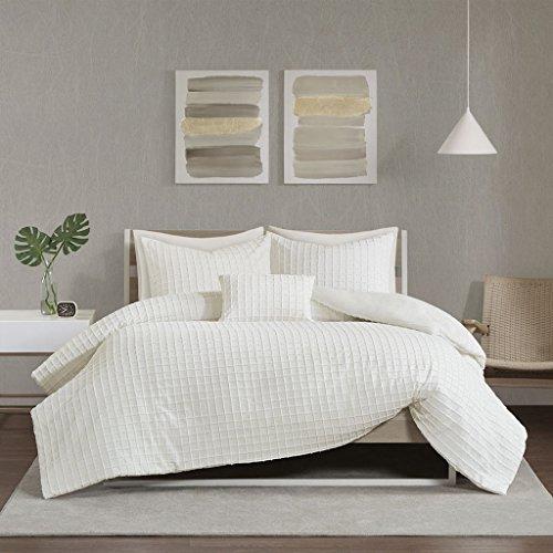 Chenille Ivory Fabric - Urban Habitat Sadie Cotton Chenille Jacquard Duvet Cover Set Ivory Full/Queen