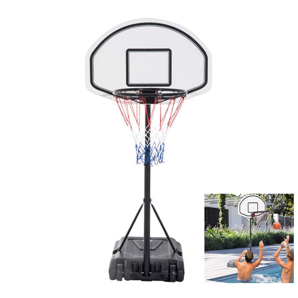 Cogihome ポータブルミニバスケットボールフープネットシステム ホイール付き ユースバスケットボールフープスタンドコート 高さ調節可能 4.1フィート~5フィート B07N8PXXV3  1.6-2.18m