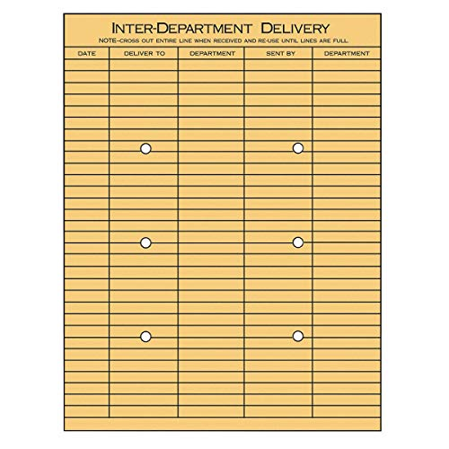 Universal 28 lb. Kraft Double Side Print InterOffice Envelope, 13