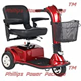 Golden Technologies - Companion - Full-Sized Scooter - 3-Wheel - Red - PHILLIPS POWER PACKAGE TM - TO $500 VALUE