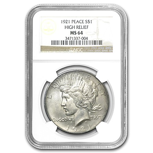 (1921 Peace Dollar MS-64 NGC Dollar MS-64 NGC)