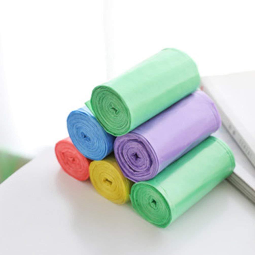 TAOHOU Sacchetti di Spazzatura Multicolore Sacchetti di immondizia Sacchi per Ufficio Camera da Letto Bagno per Cestino Giallo