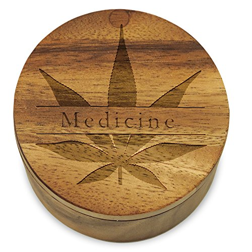 Cookbook-People-Marijuana-Pot-Herb-Stash-Box-Storage-Acacia-Wood-with-Swivel-Lid-Medicine-Leaf