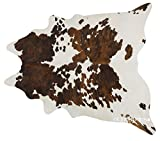 Cheap ecowhides Tricolor Brazilian Cowhide Area Rug, Cowskin Leather Hide for Home Living Room (XXL) 8 x 7 ft