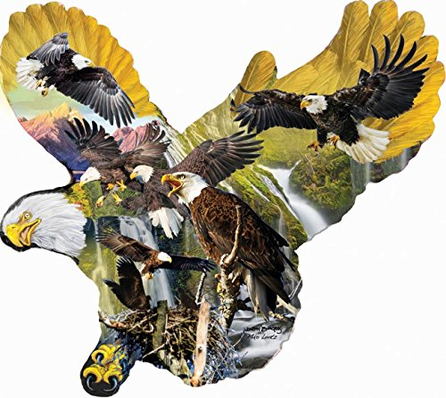Lights of the Eagles - Shaped Eagle Bird Puzzle - 1000 pc Shaped Jigsaw Puzzle