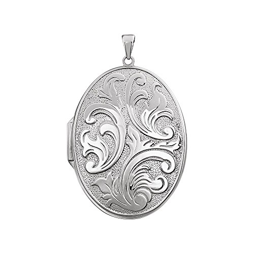 STU001- Sterling Silver Oval Locket by STU001-