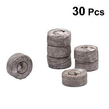 Yardwe 30pcs 3cm Peat Pellets Plántulas comprimidas Siembra de turba Suelo para trasplantar al jardín o maceta: Amazon.es: Jardín